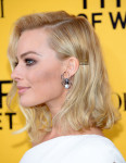 Margot Robbie in Armani Privè and Jacob & Co earrings