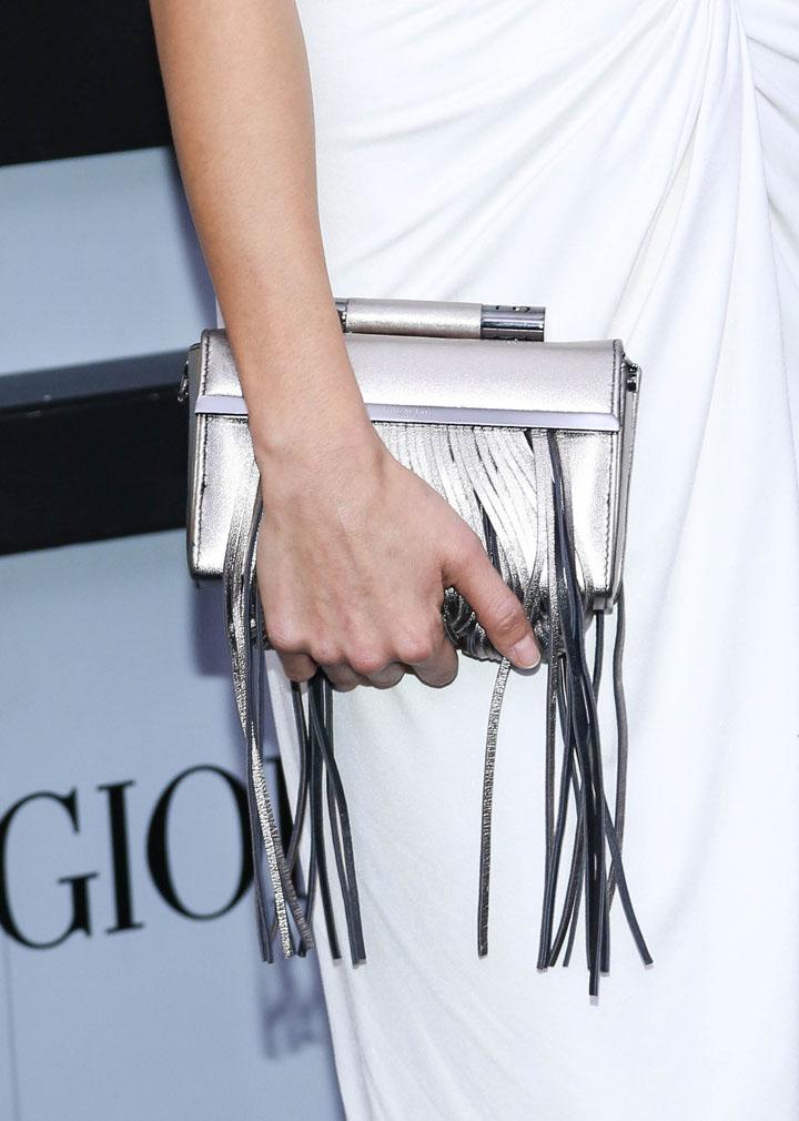 Jamie Chung's Katherine Kwei 'Donna' box clutch