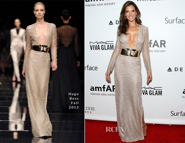 Alessandra Ambrosio In Hugo Boss -  amfAR Inspiration Gala Los Angeles