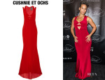 Alicia Keys' Cushnie et Ochs 'Carly' Silk Crepe Gown
