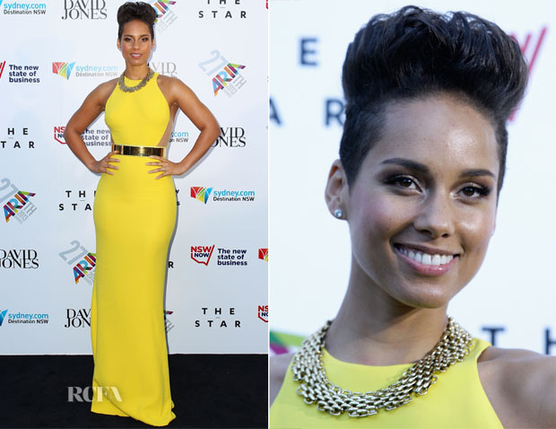 Alicia Keys In Stella McCartney - ARIA Awards 2013