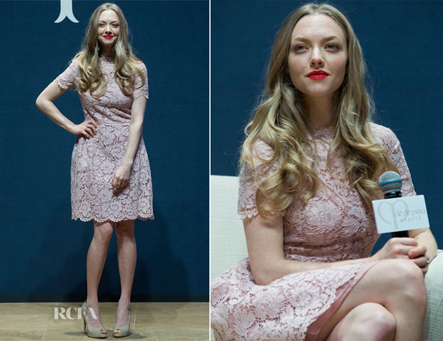Amanda Seyfried In Valentino -  The 'Cle De Peau Beaute' Promo Event