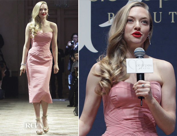 Amanda Seyfried In Zac Posen - Cle de peau BEAUTE 'Muse' Party