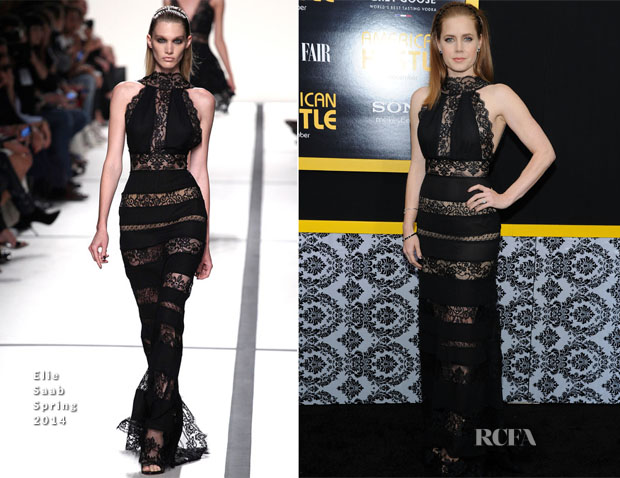 Amy Adams In Elie Saab - 'American Hustle' New York Screening 2