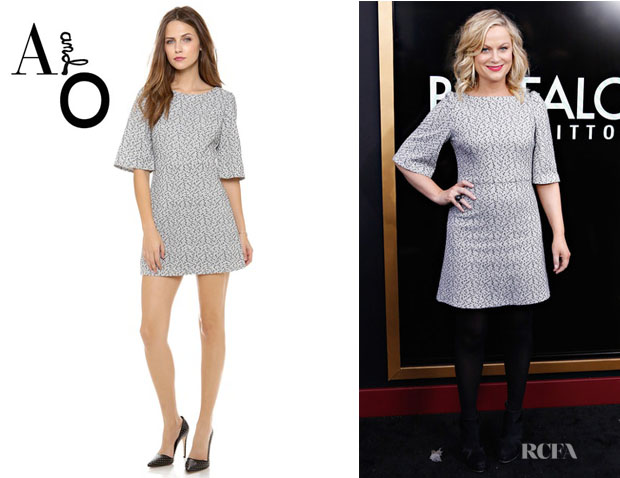 Amy Poehler's Alice + Olivia 'Hanah' Puff Shoulder Dress