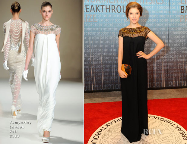 Anna Kendrick In Temperley London - Breakthrough Prize Inaugural Ceremony