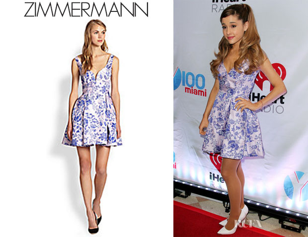Ariana Grande's Zimmermann Fit-&-Flare Dress