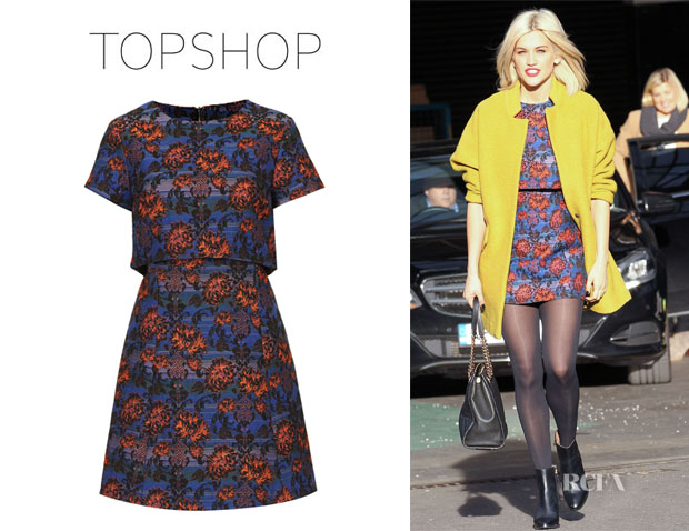 Ashley Roberts' Topshop Crocus Crop Skater Dress