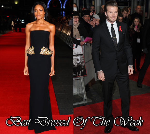 Best Dressed Of The Week - Naomie Harris In Alexander McQueen & David Beckham In Ralph Lauren