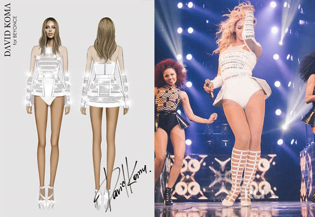 Beyonce Knowles In David Koma - Mrs Carter Show World Tour