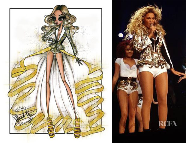 Beyonce Knowles In Dsquared² - Mrs Carter Show World Tour