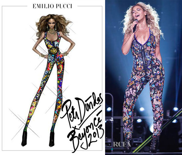 Beyonce Knowles In Emilio Pucci - Mrs Carter Show World Tour