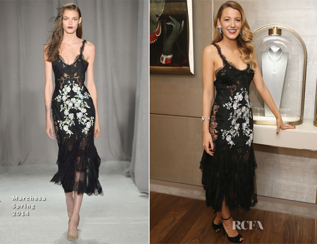 Blake Lively In Marchesa - Van Cleef & Arpels Celebrates The Redesigned New York 5th Avenue Flagship Maison