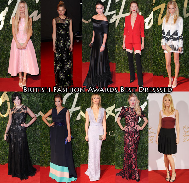 British Fashion Awards Best Dressed 2