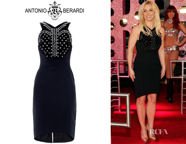 Britney Spears' Antonio Berardi Crystal Embellished Crepe Dress