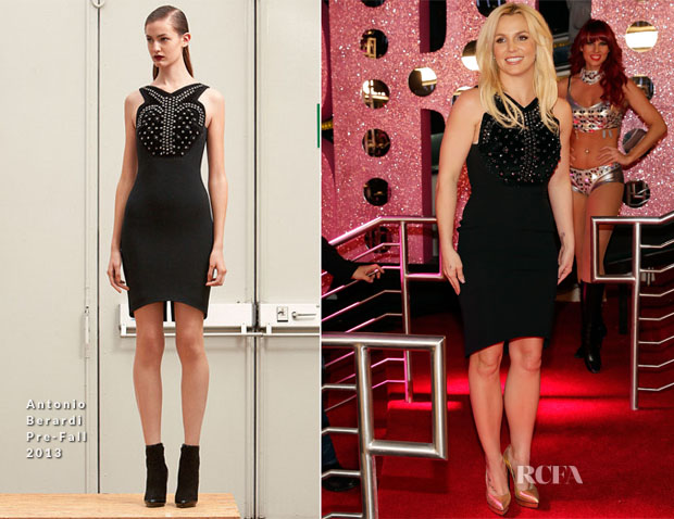 Britney Spears In Antonio Berardi - Britney Spears Official Arrival At Planet Hollywood Resort & Casino