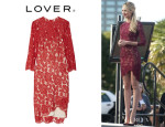 Candice Swanepoel's Lover 'Rosebud' Lace Dress