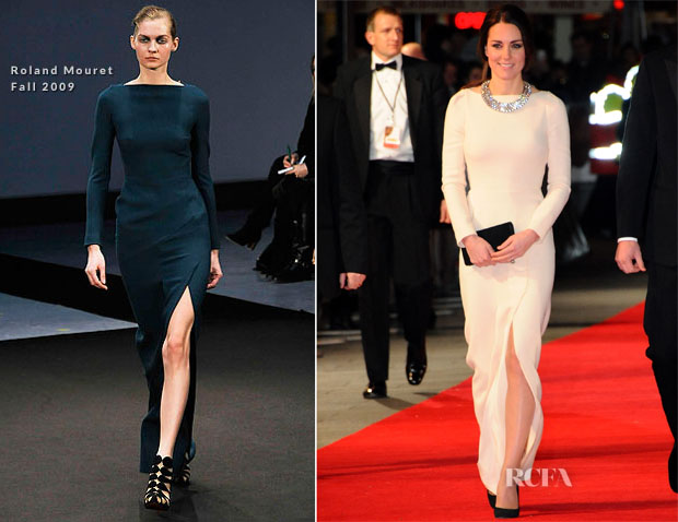 Catherine, Duchess of Cambridge In Roland Mouret  - 'Mandela Long Walk To Freedom' Royal Premiere