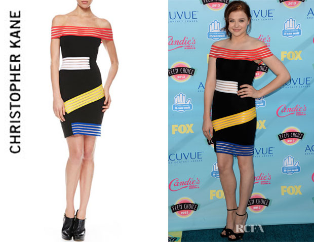Chloe Moretz' Christopher Kane Off-The-Shoulder Dress