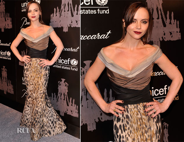 Christina Ricci In Carolina Herrera - 9th Annual UNICEF Snowflake Ball