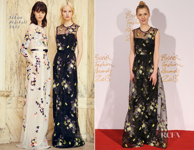 Clemence Poesy In Erdem - British Fashion Awards 2013
