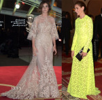 Clotilde Courau In Elie Saab Couture & Valentino - Marrakesh Film Festival