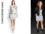 Coleen Rooney's Christopher Kane Floral-Print Sheath Dress