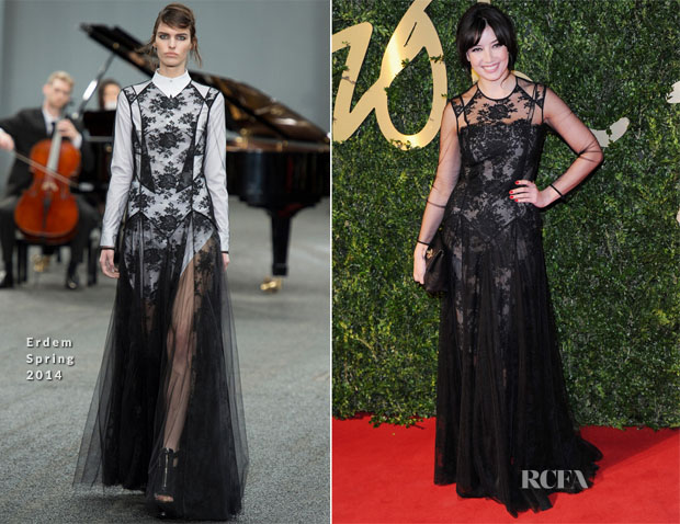 Daisy Lowe In Erdem - British Fashion Awards 2013