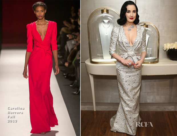 Dita Von Teese In Carolina Herrera - Van Cleef & Arpels Celebrates The Redesigned New York 5th Avenue Flagship Maison