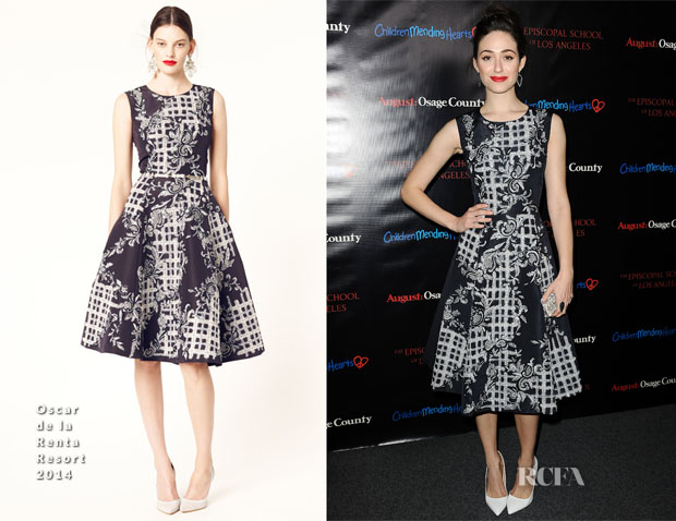 Emmy Rossum In Oscar de la Renta -  'August Osage County' LA Screening