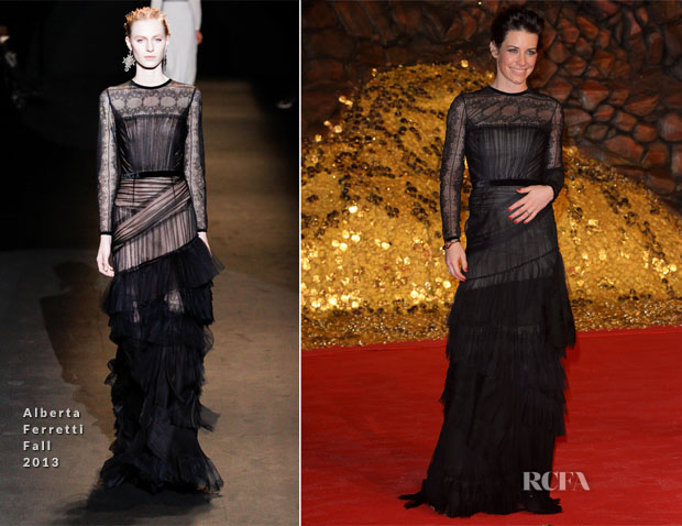 Evangeline Lilly In Alberta Ferretti - 'The Hobbit The Desolation Of Smaug' Berlin Premiere