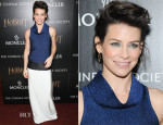 Evangeline Lilly In Paper London - 'The Hobbit: The Desolation Of Smaug' New York Screening