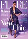 Zoe Saldana For Flare January 2014