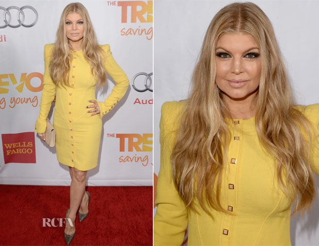 Fergie In Emanuel Ungaro - The Trevor Project's 'TrevorLIVE LA' Event Honouring Jane Lynch