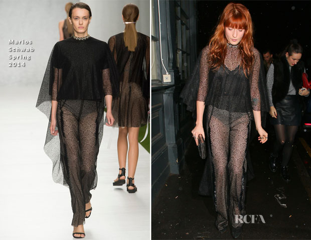 Florence Welch In Marios Schwab - Love Magazine's Christmas Party