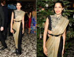 Freida Pinto In Anamika Khanna - ASMALLWORLD Holiday Weekend