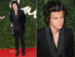 Harry Styles In Saint Laurent - British Fashion Awards 2013