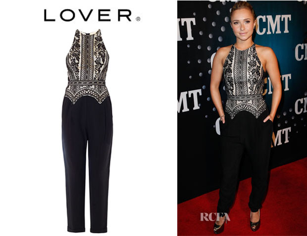 Hayden Panettiere's Lover 'Commune' Lace Top Jumpsuit