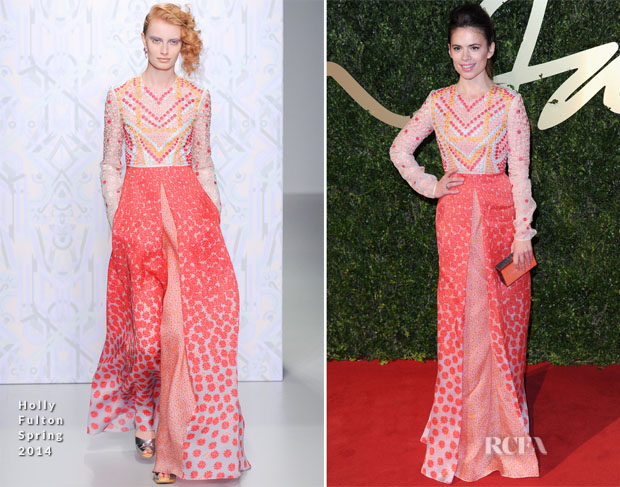 Hayley Atwell In Holly Fulton - British Fashion Awards 2013