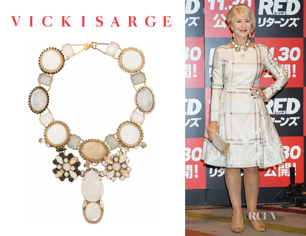 Helen Mirren's Vickisarge 'Beatrix' Gold-Plated Multi-Stone Necklace
