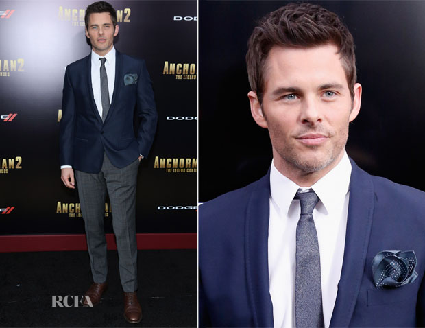 James Marsden In Dolce & Gabbana - 'Anchorman 2 The Legend Continues' New York Premiere