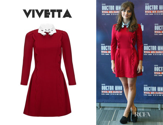 Jenna Coleman's Vivetta Scalloped Martedi Dress