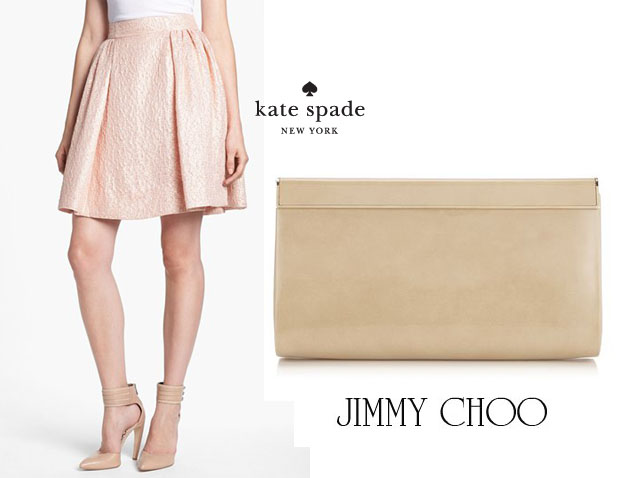 Jennifer Lopez In Kate Spade New York  and Jimmy Choo Cayla Clutch