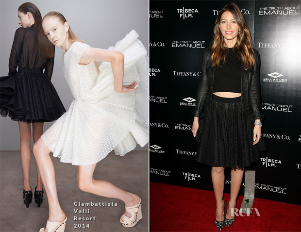 Jessica Biel In Giambattista Valli - 'The Truth About Emanuel' LA Premiere