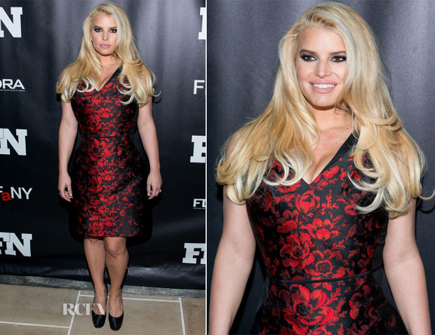 Jessica Simpson In Carolina Herrera - 27th Annual Footwear News Achievement Awards