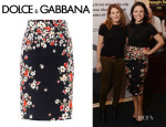 Julia Louis-Dreyfus' Dolce & Gabbana Flower Brocade Pencil Skirt