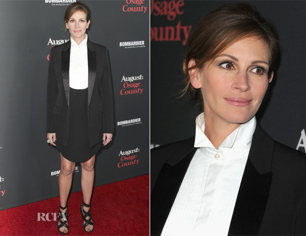 Julia Roberts In Givenchy - 'August Osage County' LA Premiere
