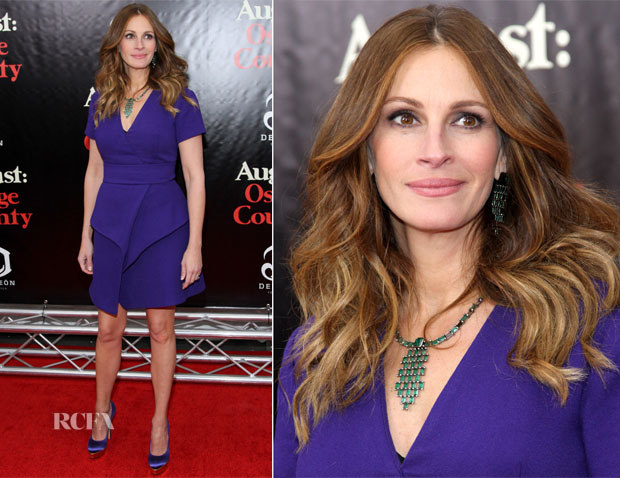 Julia Roberts In Proenza Schouler - 'August Osage County' New York Premiere