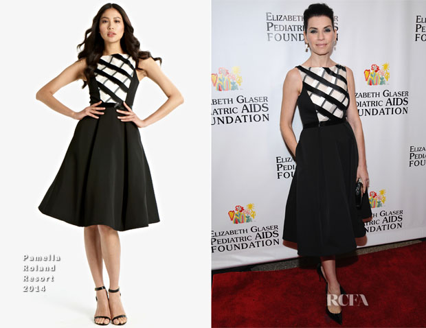 Julianna Margulies In Pamella Roland - Elizabeth Glaser Pediatric AIDS Foundation's Global Impact Award Gala Dinner