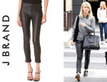 Julianne Hough's J Brand 'Anja' Cuffed Leather Pants
